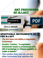 9-Important Provisions of n.i.act