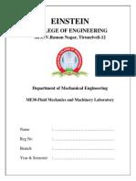 198235813 63815150 Fluid Mechanics and Machinery Laboratory Manual