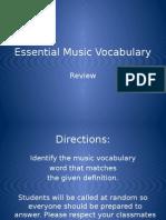 Essential Music Vocabulary Review