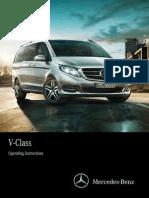 Mercedes v 220 2015 Owners Manual