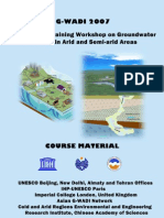 Interntional Training Workshop on Groundwater Modeling in Arid and Semi Arid Areas