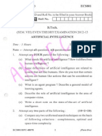 Artificial Intelligence ECS801