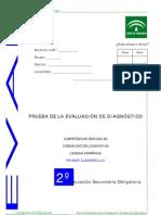 Evaluación diagnóstica competencia lingüística_2º ESO_Andalucía_2007_2008_Cuadernillo 1