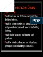 Building Construction Course Objectives