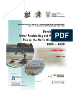 Development of a Water Provisioning and Management Plan in the North West Province 2008 - 2030