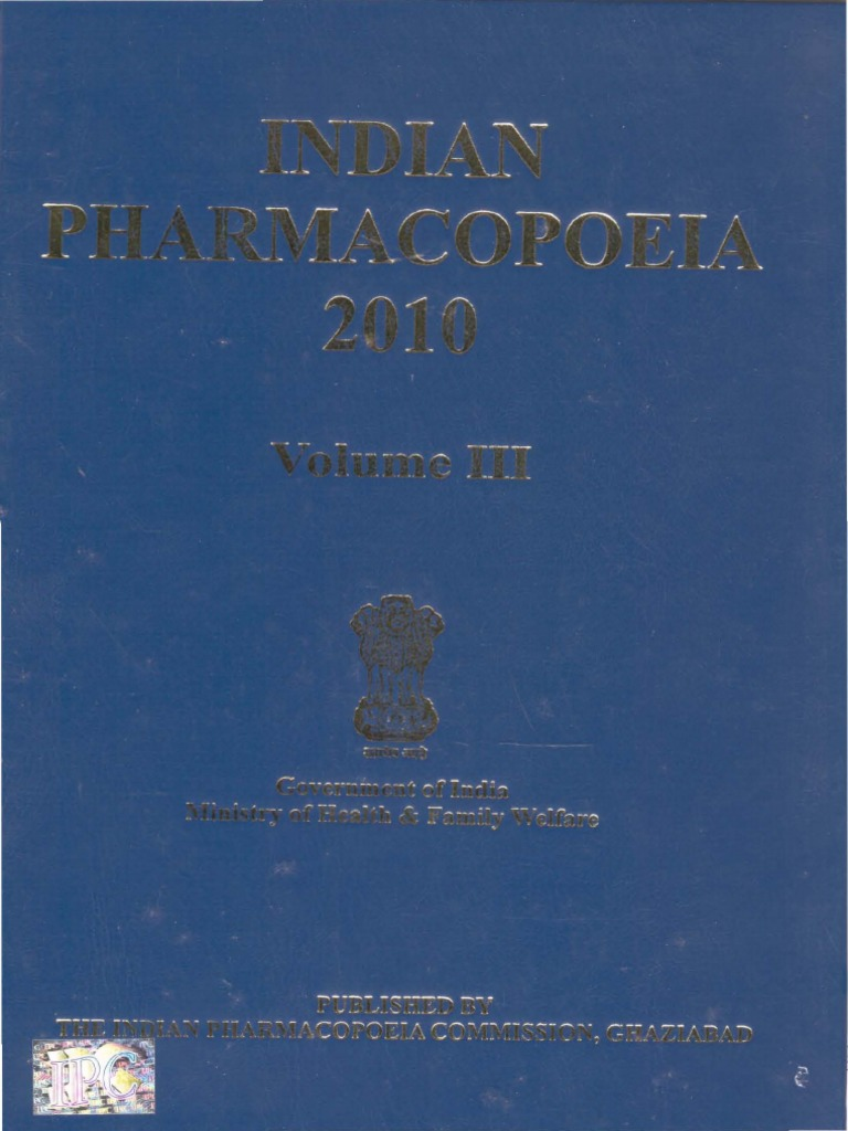Indian Pharmacopoeia 2010 In Pdf Format