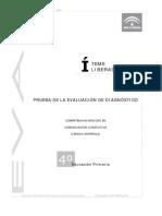 Evaluación diagnóstica competencia lingüística_4º EPO_Andalucía_2006_2007