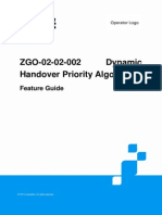 ZGO-02!02!002 Dynamic Handover Priority Algorithm Feature Guide ZXG10 IBSC (V12.3.0)20131108