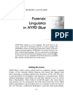 Forensic Linguistics in NYPD Blue