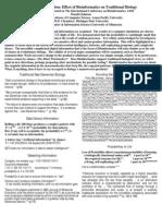 Donald Johnson - Effect of Bioinformatics on Traditional Biology