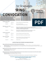 Information for Graduands - 2015 Spring Convocation