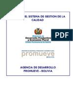 Manual de Calidad Promueve Bolivia