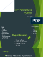 Antihypertensive Agents My Report