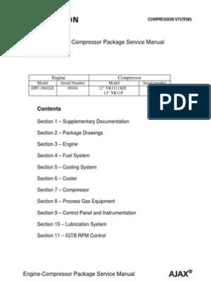 Cameron Ajax Package Service Manual | Piston | Valve on
