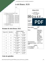 Lista de Episódios de Dr. House, M.D