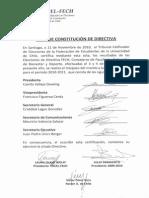 Acta de constitución FECH 2010-2011