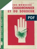 Aide Mémoire Du Chaudronnier Et Du Soudeur