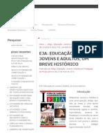 Eja_ Educação de Jovens e Adultos, Um Breve Histórico