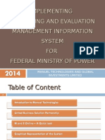 Monitoring and Evaluation MIS