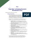 LAN01-#213760-V1- Snap Shot of Existing Economic Development Laws