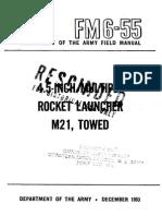 FM 6-55 4.5.INCH MULTIPLE ROCKET LAUNCHER M21, TOWED