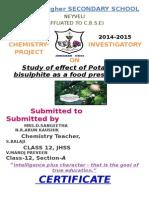 Chem Proj class 12 cbse
