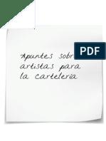 Apuntes Sobre 3 Artistas Para La Cartelería