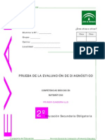 Evaluación diagnóstica competencia matemática 2º ESO_Andalucía 2007_2008_Cuadernillo 1