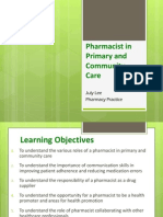Pharmacist in Primary and Community Care 2012