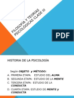 Filosofía y Teoría Psicológicas Clase III