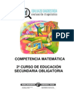 Evaluación diagnóstica competencia matemática 2º ESO_País Vasco_2008