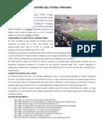HISTORIA DEL FÚTBOL PERUANO