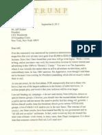 Trump Letter to CNN