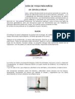 Sesión de Yoga Para Niños (Guion Completo)