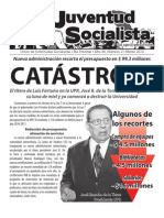 Catástrofe, Boletín #2, Marzo 2010