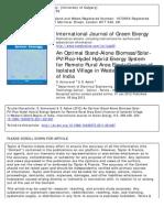 Un sistema híbrido solar PV, Pico-Hydel para electrificación de areas rurales remotas en villas aisladas de la India