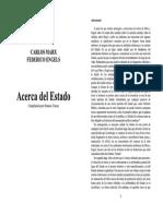 Marx y Engels Acerca Del Estado. Horacio Tarcus Comp.