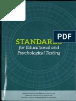 AERA, APA, NCME Standards - Validity