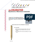Accelerator_ Klystron is a Microwave Generator
