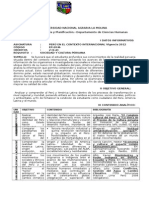 Syllabus PCI 2012