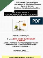 Necessidades e Recomendações Nutricionais