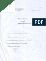 Examen Intorduction Sciences économiques S1 2009-2010