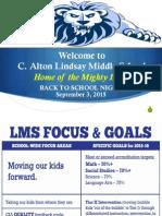 LMS Back to School Night 1516