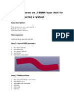 Tutorial 3 Create an LS-DYNA Input Deck for an S-rail Impacting a Rigidwall (1)
