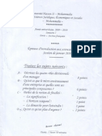 Examen Sciences de Gestion S1 2009-2010