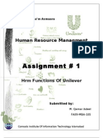 Human Resource Management at Unilever1