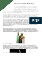 El Empleo De Productos Homeopáticos Puede Matar