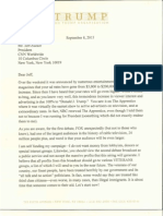 Donald Trump's Letter to CNN President Jeff Zucker