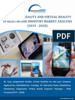Augmented Reality and Virtual Reality in Healthcare Industry Market to grow at 12.2% till 2020