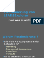 Positionierung LEADSExplorer Deutsch
